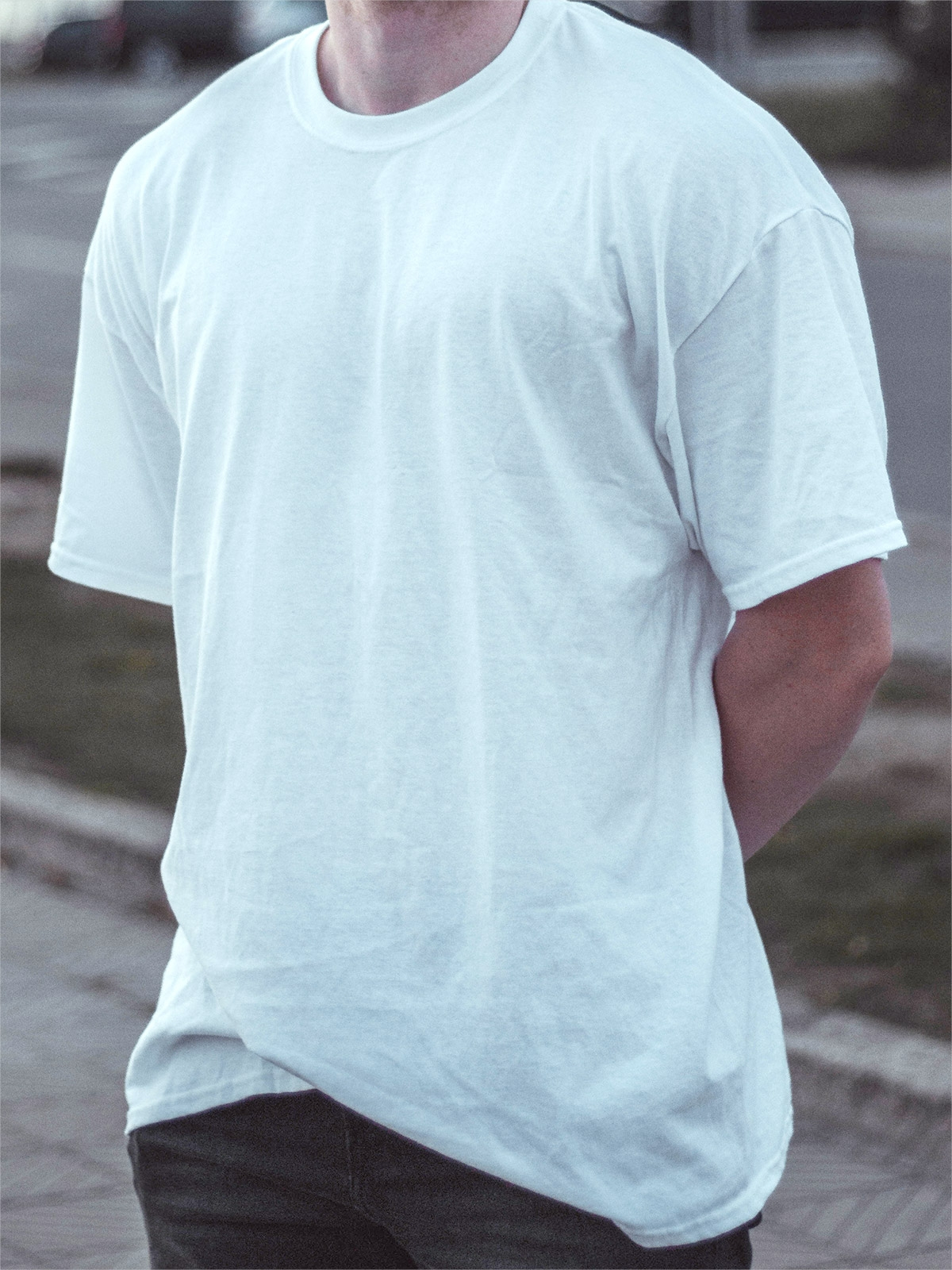 Oversize white cotton T-Shirt