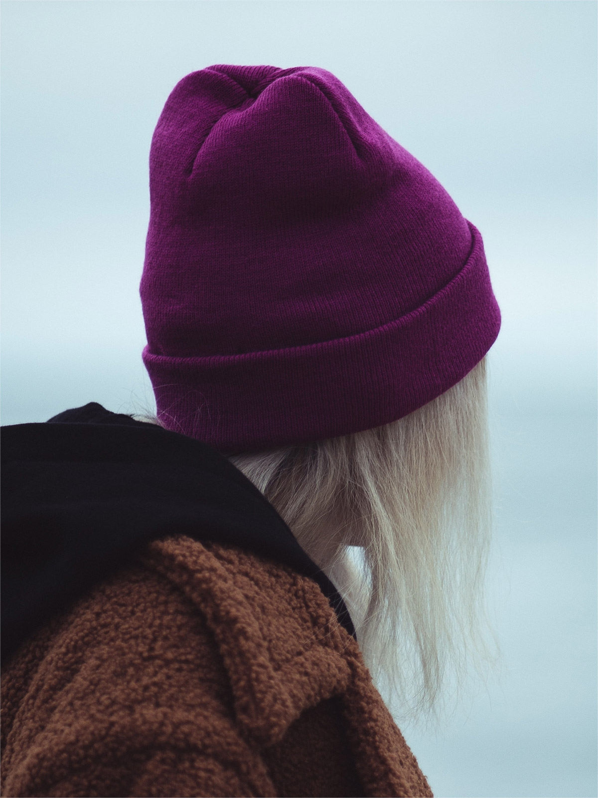 Cashmere-blend violet beanie