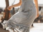 Beige strappy summer dress
